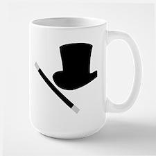 Magic Top Hat and Wand Large Mug