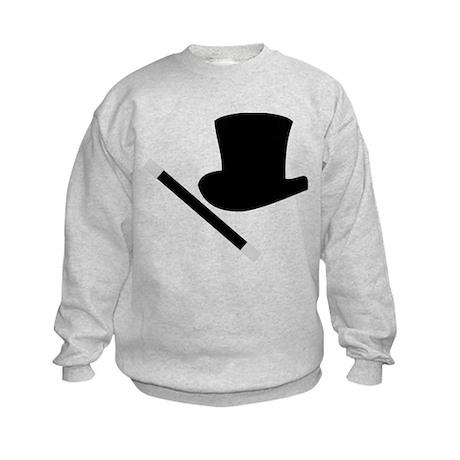 Magic Top Hat and Wand Kids Sweatshirt