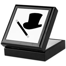 Magic Top Hat and Wand Keepsake Box