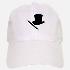Magic Top Hat and Wand Baseball Baseball Cap