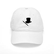 Magic Top Hat and Wand Baseball Cap