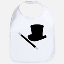 Magic Top Hat and Wand Bib
