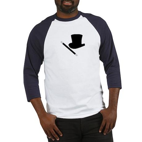 Magic Top Hat and Wand Baseball Jersey