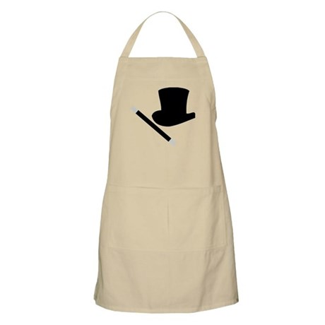 Magic Top Hat and Wand BBQ Apron