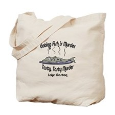Eating Fish is Murder Tote Bag