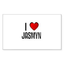 I LOVE JASMYN Rectangle Decal