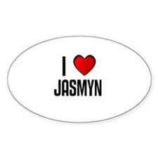 I LOVE JASMYN Oval Decal