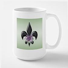 fleur de lis Large Mug