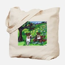 Rat Terrier Summer dog art wh Tote Bag