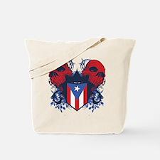 Puerto Rico Skulls Tote Bag