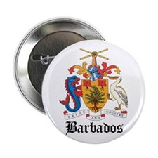 """Barbadian Coat of Arms Seal 2.25"""" Button"""