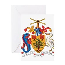 Barbados Coat of Arms Greeting Card