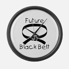 Future Black Belt Large Wall Clock