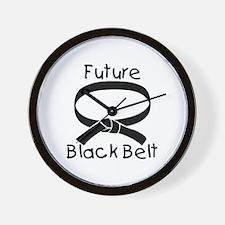 Future Black Belt Wall Clock