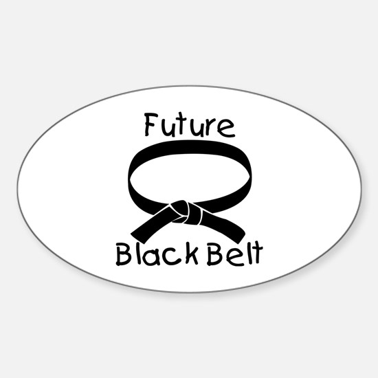 Future Black Belt Oval Decal