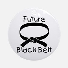 Future Black Belt Ornament (Round)