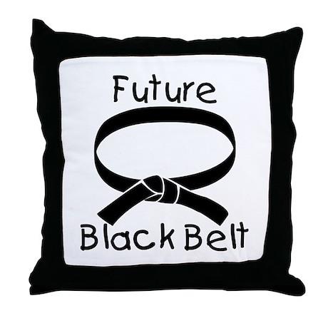 future black belt throw pillow