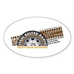 Steel Belted Radio Oval Sticker (10 pk)