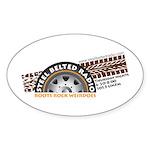 Steel Belted Radio Oval Sticker
