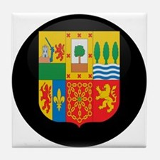 Coat of Arms of Basque Tile Coaster