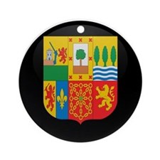 Coat of Arms of Basque Ornament (Round)
