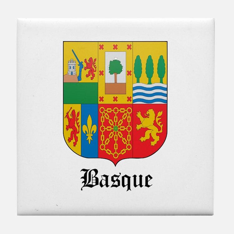 Basquan Coat of Arms Seal Tile Coaster