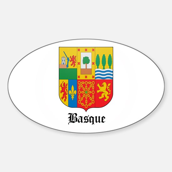 Basquan Coat of Arms Seal Oval Decal