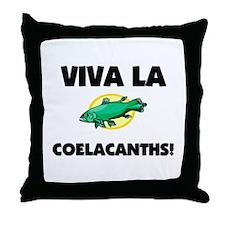 Viva La Coelacanths Throw Pillow