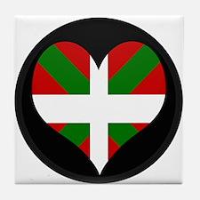 I love Basque Flag Tile Coaster
