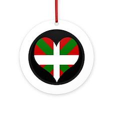 I love Basque Flag Ornament (Round)