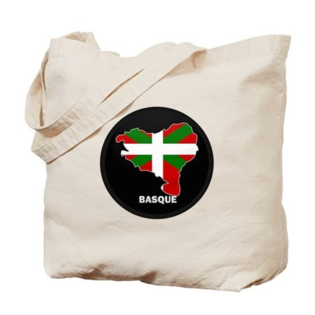 Flag Map of Basque Tote Bag