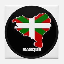 Flag Map of Basque Tile Coaster