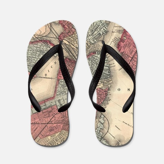 Vintage Map of Boston Massachusetts (18 Flip Flops