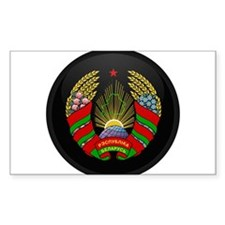 Coat of Arms of Belarus Rectangle Decal