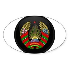 Coat of Arms of Belarus Oval Decal