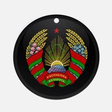 Coat of Arms of Belarus Ornament (Round)