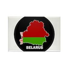 Flag Map of Belarus Rectangle Magnet