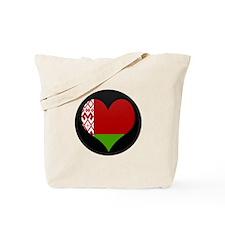 Flag Map of Belarus Tote Bag
