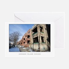 Vintage Apartments Greeting Card