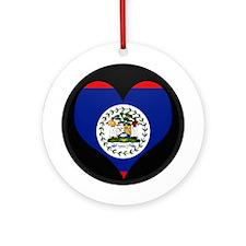 I love Belize Flag Ornament (Round)
