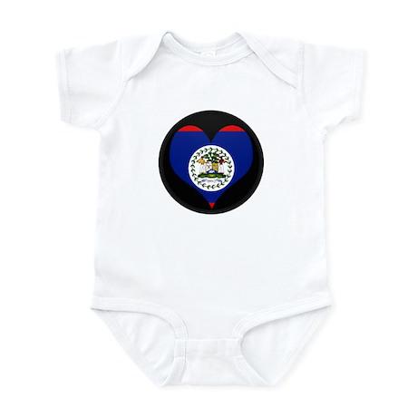 I love Belize Flag Infant Bodysuit