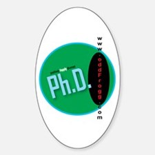 Ph.D. (Positively Happily Divorced) Bumper Decal