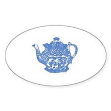 """Teapot"" Oval Decal"