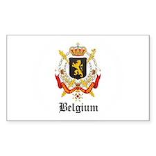 Belgian Coat of Arms Seal Rectangle Decal