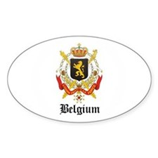 Belgian Coat of Arms Seal Oval Decal