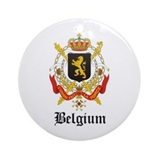 Belgian Coat of Arms Seal Ornament (Round)