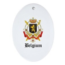 Belgian Coat of Arms Seal Oval Ornament