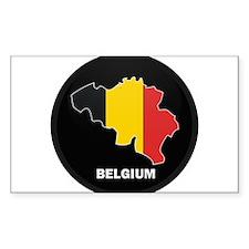 Flag Map of Belgium Rectangle Decal