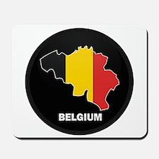 Flag Map of Belgium Mousepad