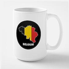 Flag Map of Belgium Mug